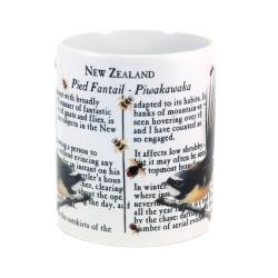 Mug: Fantail Bird Of New Zealand (White Mug)