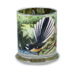 Pen Pot: Fantail In New Zealand Forest (Handmade)