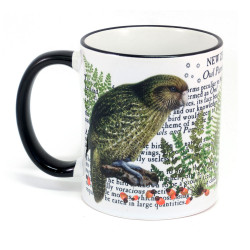 Mug: Kakapo Parrot Of New Zealand (Colored Rim & Handle)