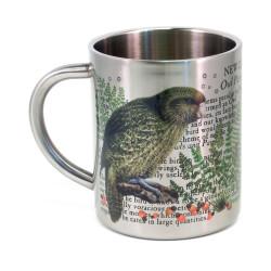 Mug: Kakapo Parrot Of New Zealand (Stainless Steel Mug)