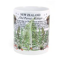 Mug: Kakapo Parrot Of New Zealand (White Mug)