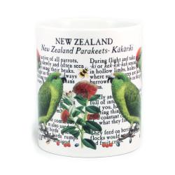 Mug: Kakariki Parakeets of New Zealand (White Mug)