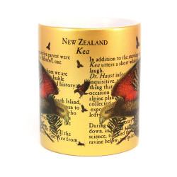 Mug: Kea Parrot of New Zealand (Sparkling Gold Mug)