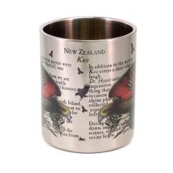 Mug: Kea Parrot Of New Zealand (Stainless Steel Mug)