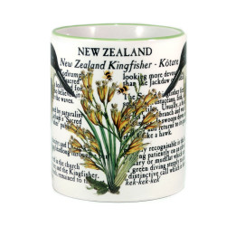 Mug: Kingfisher Of New Zealand (Colored Rim & Handle)