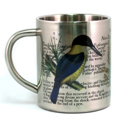 Mug: Kingfisher of New Zealand (Stainless Steel Mug)