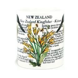 Mug: Kingfisher of New Zealand (White Mug)