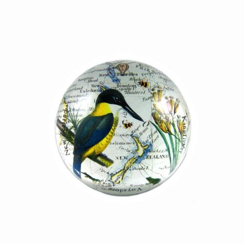 Paperweight: New Zealand Kingfisher (Handmade). Made in New Zealand gift.