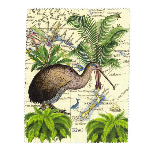 Lens and Screen Cleaning Cloth: Kiwi of New Zealand. Made in New Zealand gift.