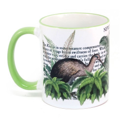 Mug: Kiwi Of New Zealand (Colored Rim & Handle)