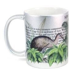 Mug: Kiwi Of New Zealand (Sparkling Silver Mug)