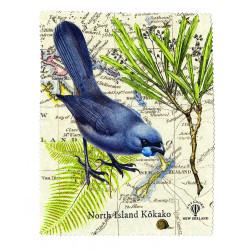 Lens and Screen Cleaning Cloth: Kokako Bird of New Zealand