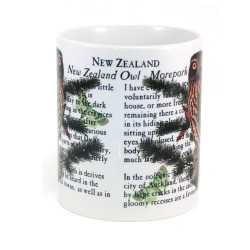 Mug: Morepork Owl of New Zealand (White Mug)