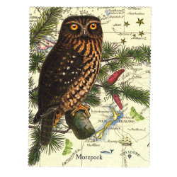 Lens and Screen Cleaning Cloth: Morepork Owl of New Zealand