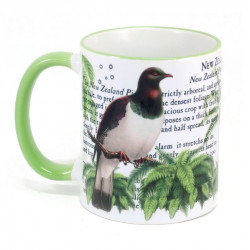 Mug: New Zealand Pigeon (Colored Rim & Handle)