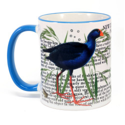 Mug: Pukeko Of New Zealand (Colored Rim & Handle)