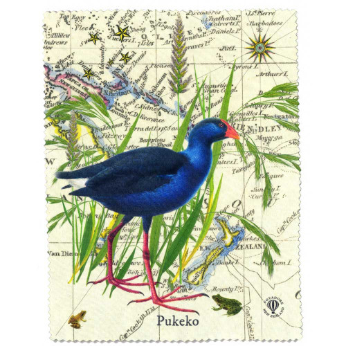 Lens and Screen Cleaning Cloth: Pukeko Of New Zealand. Made in New Zealand gift.