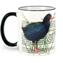 Mug: Takahe Of New Zealand (Colored Rim & Handle)