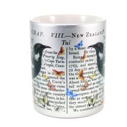 Mug: Tui & Captain Cook's Discovery of New Zealand (Sparkling Silver Mug)