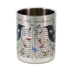 Mug: Tui & Captain Cook's Discovery of New Zealand (Stainless Steel Mug)