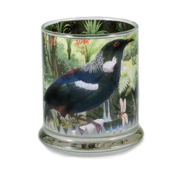 Pen Pot: Tui In New Zealand Forest (Handmade)