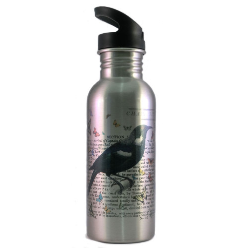 Water Bottle: Tui of New Zealand (Silver)