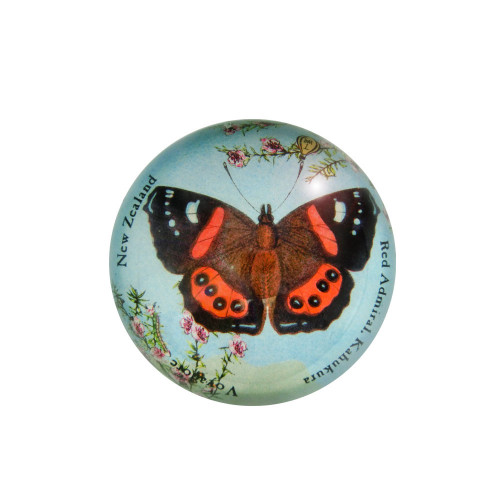 Paperweight: Red Admiral Butterfly (Handmade). Made in New Zealand gift.