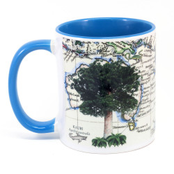 Mug: Kauri Tree And Pacific Map (Colored Inner & Handle)