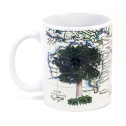Mug: Kauri Tree And Pacific Map (White)