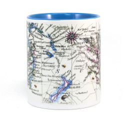 Mug: Manuka Tea Tree And Pacific Map (Colored Inner & Handle)
