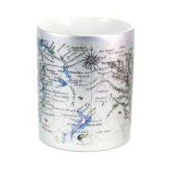 Mug: Manuka Tea Tree And Pacific Map (Sparkling Silver Mug)
