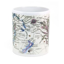 Mug: Manuka Tea Tree And Pacific Map (White Mug)