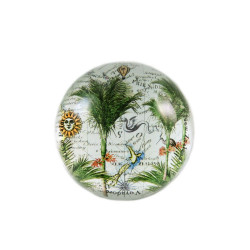 Paperweight: Nikau Palms And Pacific Map (Handmade)