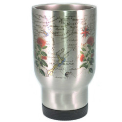 Mug: Pohutukawa Tree And Pacific Map (Travel Mug)