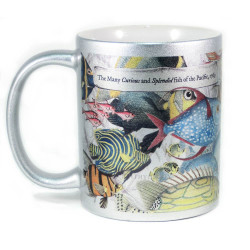 Mug: The Many Curious and Splendid Fish of the Pacific, 1769 (Sparkling Silver Mug)