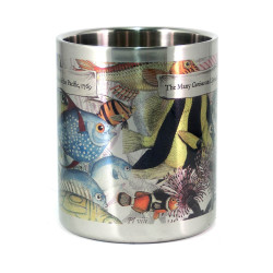Mug: The Many Curious and Splendid Fish of the Pacific, 1769 (Stainless Steel Mug)