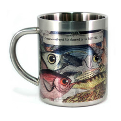 Mug: Extraordinarily Eyed Fish Observed in The Pacific, 1769 (Stainless Steel Mug)