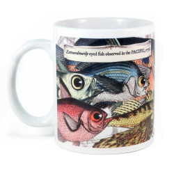 Mug: Extraordinarily Eyed Fish Observed in The Pacific, 1769 (White Mug)