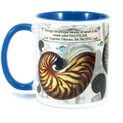 Mug: Nautilus Found in The Pacific Ocean, 1796 (Colored Inner & Handle)