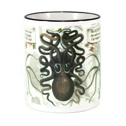 Mug: The Octopus With Arms Measuring Nine Fathoms, 1796 (Colored Rim & Handle)