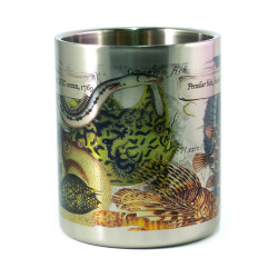 Mug: Peculiar Fish Found in The Pacific Ocean, 1769 (Stainless Steel Mug)
