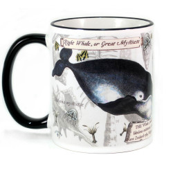 Mug: Right Whale or Great Mysticete (Colored Rim & Handle)