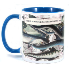 Mug: Sharks, All Manner Of, Observed In The Pacific, 1769 (Colored Inner & Handle)