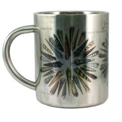 Mug: Turret and Auger Seashells of New Zealand (Stainless Steel Mug)