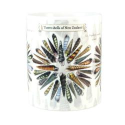 Mug: Turret and Auger Seashells of New Zealand (White Mug)
