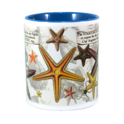 Mug: Starfish Found in The Pacific Ocean, 1793 (Colored Inner & Handle)