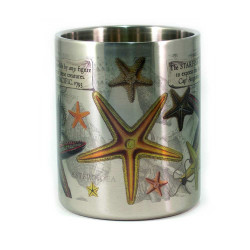 Mug: Starfish Found in The Pacific Ocean, 1793 (Stainless Steel Mug)