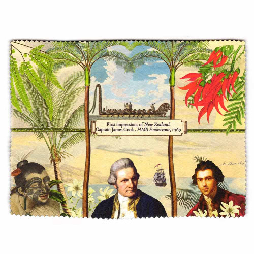 Lens and Screen Cleaning Cloth: First Impressions of New Zealand, Captain Cook 1769