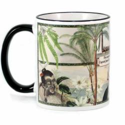 Mug: First Impressions of New Zealand, Captain Cook 1769 (Coloured Rim & Handle)