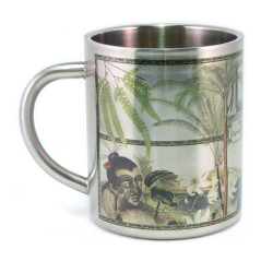 Mug: First Impressions of New Zealand, Captain Cook 1769 (Stainless Steel Mug)
